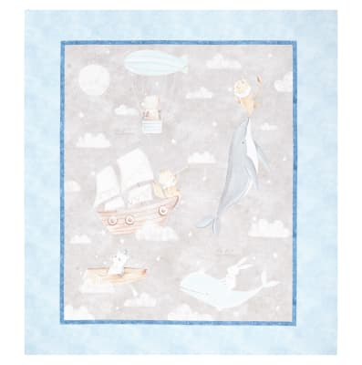 """Fabric Editions Adventures In The Sky Large 36"""" Panel"""