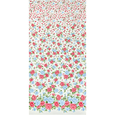 Gertie Stretch Cotton Sateen Birdie Floral Cream/Pink