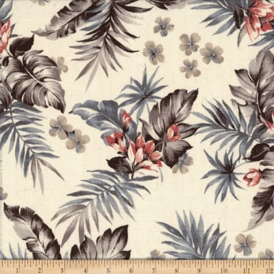 Kokka Resort Tropical Floral Canvas Natural