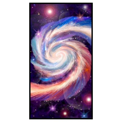 "Galaxy Blast Digital Panel 24"" Black"