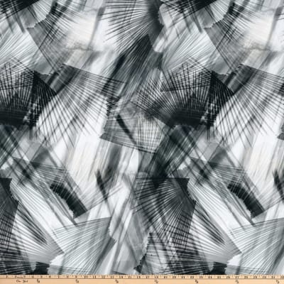 """Plume 108"""" Digital  Feather Texture Gray"""