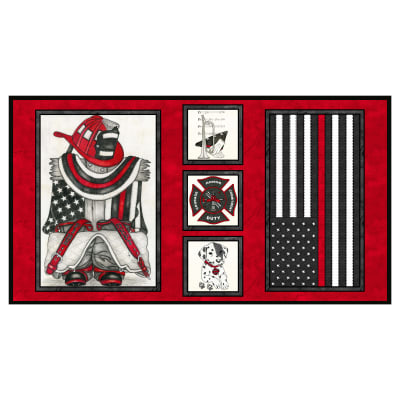 "Thin Red Line 24"" Panel with Flag Red"