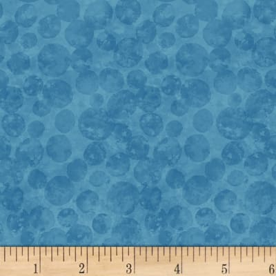 Blank Quilting Tessellations Dot Texture Medium Blue