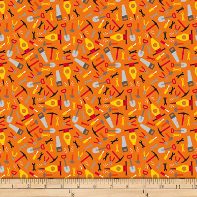 QT Fabrics Work In Progress Tools Orange