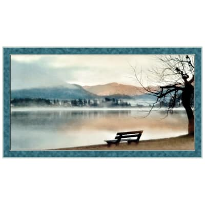"QT Fabrics  Artworks 24"" Lake Panel Blue"