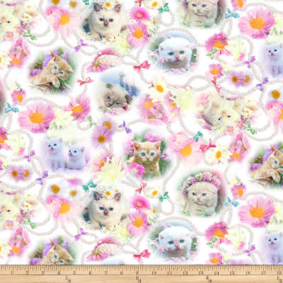 Kitty Glitter Cats Medley Digital Pink