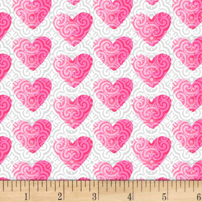 Hearts of Love Small Set Hearts White/ Pink