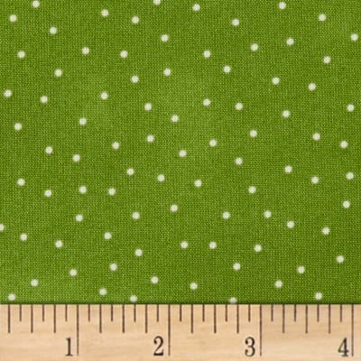 Maywood Studio Beautiful Basics Scattered Dot Snap Pea