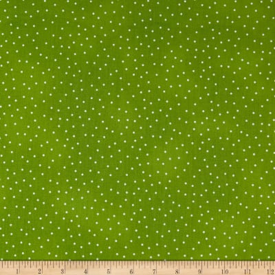 Maywood Studio Beautiful Basics Scattered Dot Spring Green