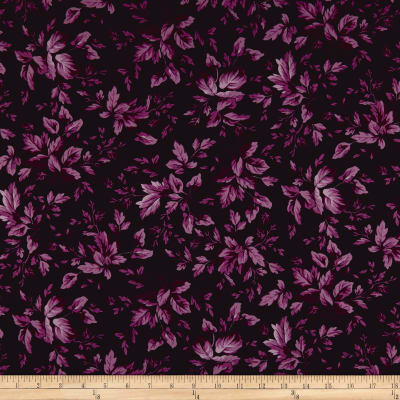 Maywood Studio Aubergine Tonal Leaves Aubergine