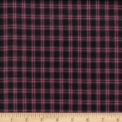 Rustic Woven Plaid Black/Pink/Wine