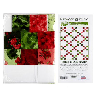"Maywood Studio Pods Chloe Irish 30"" x 42"" Chain Quilt Pod Kit Multi"