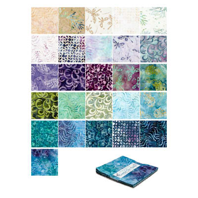 "Maywood Studio Coastal Chic Batiks 5"" Charms 42 Pcs. Multi"
