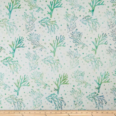 Maywood Studio Coastal Chic Batiks Coral Cream/Teal