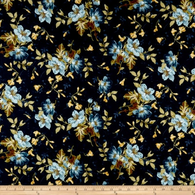 Maywood Studio English Countryside Spaced Floral Navy