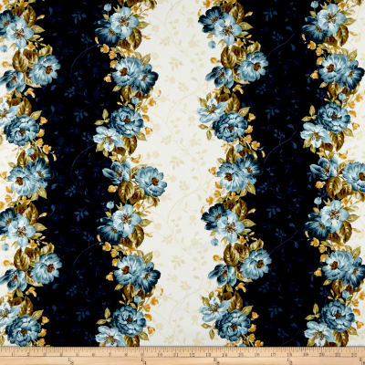 Maywood Studio English Countryside Floral Stripe Natural