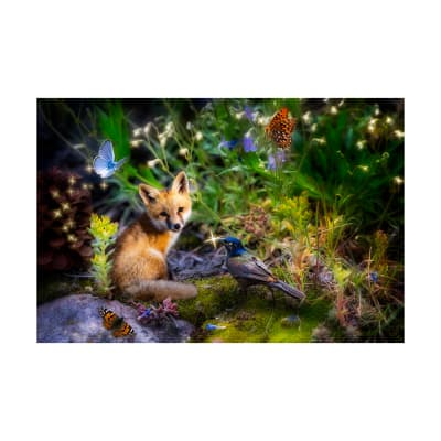 "Hoffman Digital Imagine This Fox 37"" Panel Forest"