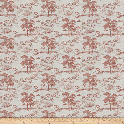 Fabricut Agriculture Toile Red
