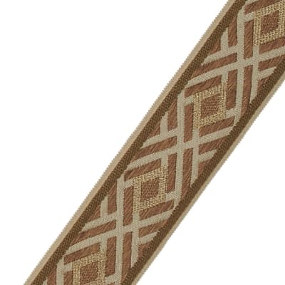 "Fabricut 2.5"" Crosshatch Trim Topaz"