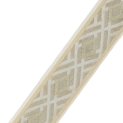 "Fabricut 2.5"" Crosshatch Trim Spun Gold"