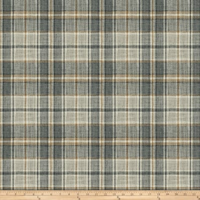 Fabricut Edgevale Plaid Charcoal