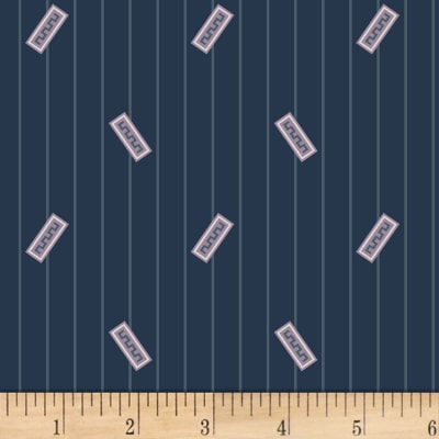 P&B Textiles A Soldier's Quilt Bars Navy