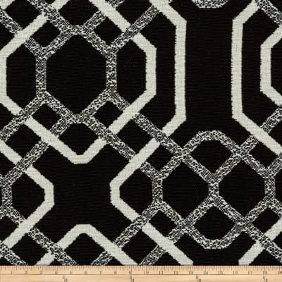 Morgan Fabrics Bella Dura Outdoor Bayliss BlackWhite