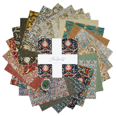 "Freespirit Montagu 10"" Charm Pack 42 Pc Multi"
