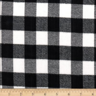 Windstar Twill Flannel 1inch Buffalo Check Black/White