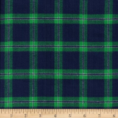 Windstar Twill Flannel Plaid Navy/Green