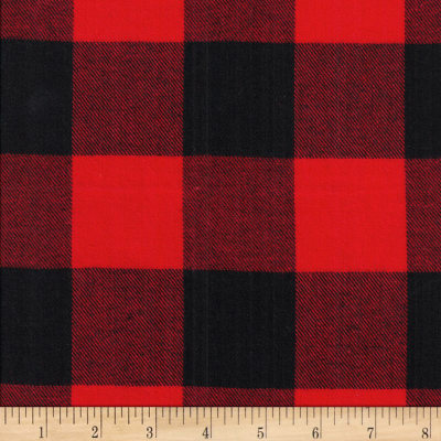 Windstar Twill Flannel 2in Buffalo Check Black/Red