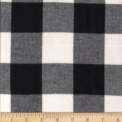Windstar Twill Flannel 2in Buffalo Check Black/White