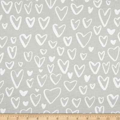 Premier Prints Lovely Canvas French Grey