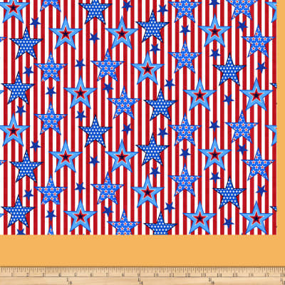 America: Land Of The Free  Striped Stars Red
