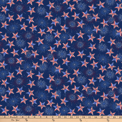 America: Land Of The Free Tossed Stars Navy
