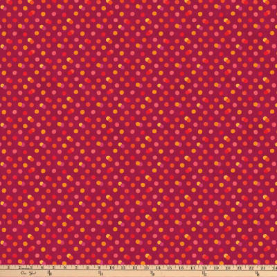 Northcott X's and O's Island Sunset Skittles Cool Red/Multi