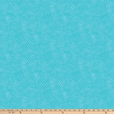 Northcott X's and O's Blue Lagoon Big Cheerios Turquoise