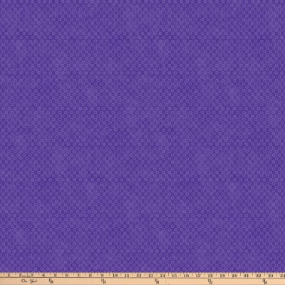 Northcott X's and O'S Wild Orchid Big Cheerio Blue/Purple