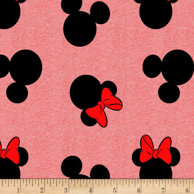 Disney Licensed Knits Mickey And Minnie Head Toss Red