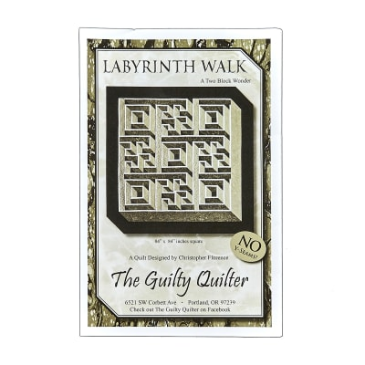 Guilty Quilter Labyrinth Walk Pattern Multi
