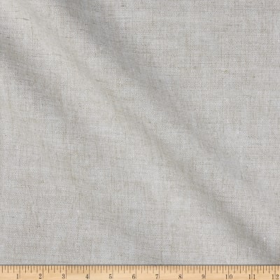 India Imports 10 oz 100% Linen Basketweave  Oatmeal