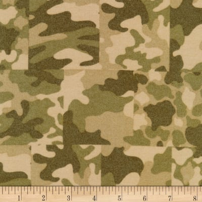 Kaufman Sevenberry Camouflage Flannel Patch Camouflage