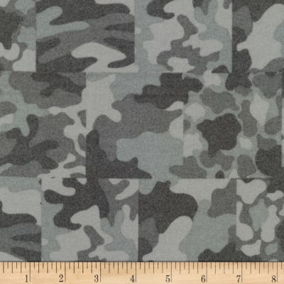Kaufman Sevenberry Camouflage Flannel Patch Grey