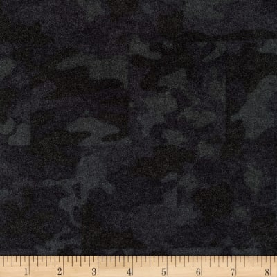 Kaufman Sevenberry Camouflage Flannel Patch Charcoal