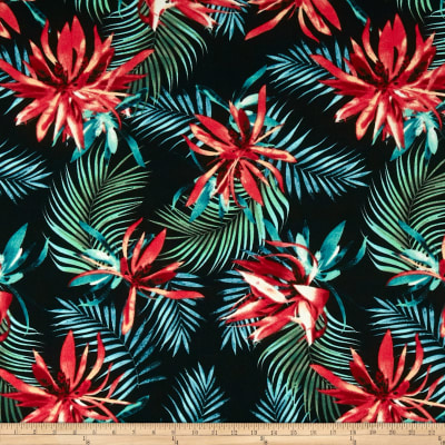 Liverpool Double Knit Tropical Black/Coral