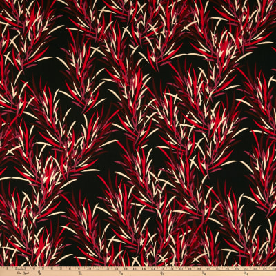 Liverpool Double Knit Tossed Abstract Swirls Red/Black