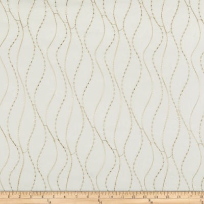 Kravet 9804 Embroidered Sheer Metallic Beige
