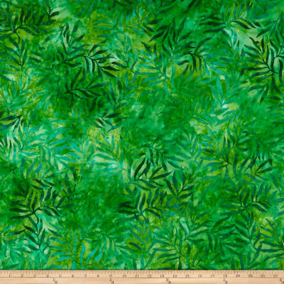 Kaufman Artisan Batik: Color Source Leaves Moss