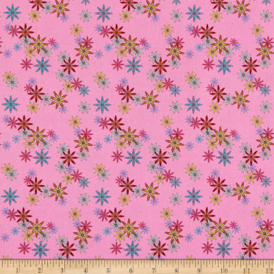 QT Fabrics Party Like A Unicorn Flowers Pink
