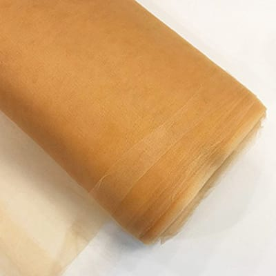 """54"""" Tulle (Bolt, 40 Yards) Gold"""